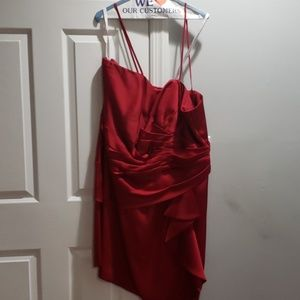 Red Satin dress. Excellent condition